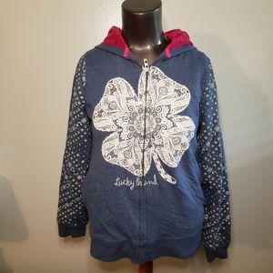 Lucky brand kids zip up hoodie sweatshirt
